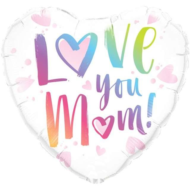 Balon foliowy Dzień Matki - Love you Mom Qualatex 18 HRT