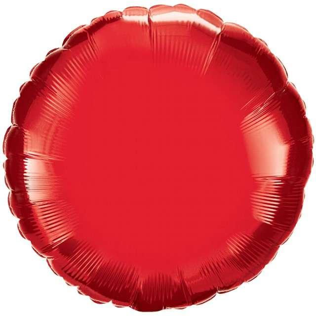 """Balon foliowy """"Pełen Kolor"""", czerwony, Qualatex, 18"""", ORB"""
