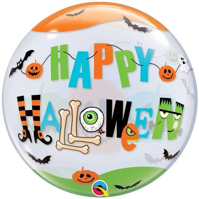 _xx_Balon foliowy 22 cale QL Bubble Poj. Happy Halloween