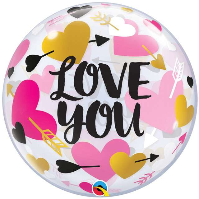 _xx_Balon foliowy 22 cale QL Bubble Poj. Love You