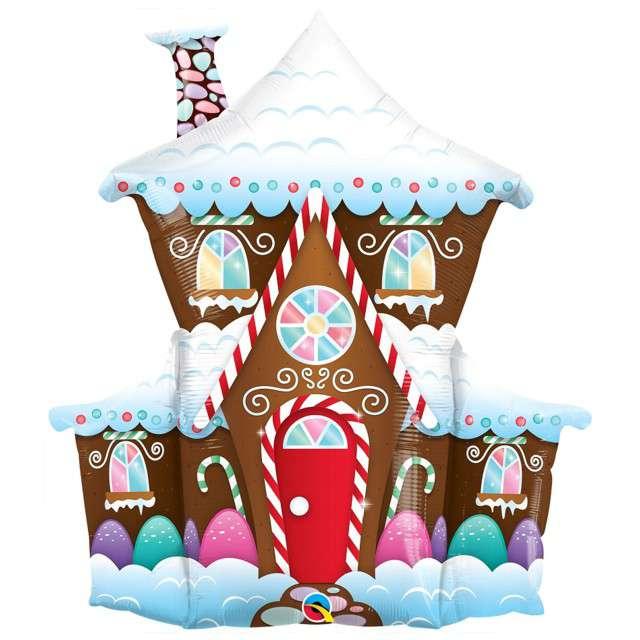 _xx_Balon foliowy 37 cali QL SHP Świąteczny domek z piernika