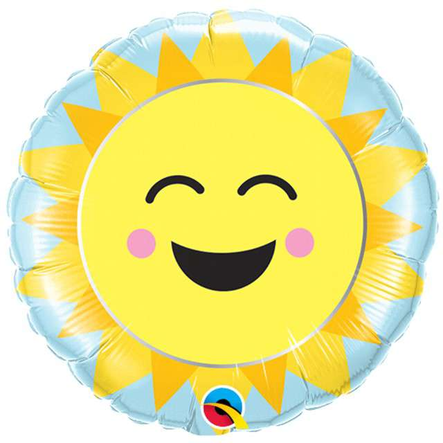 _xx_Balon foliowy 9 cali QL RND Sunshine Rainbow