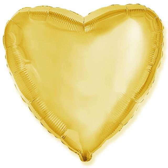 _xx_Balon foliowy 9 FX - Serce (złote)