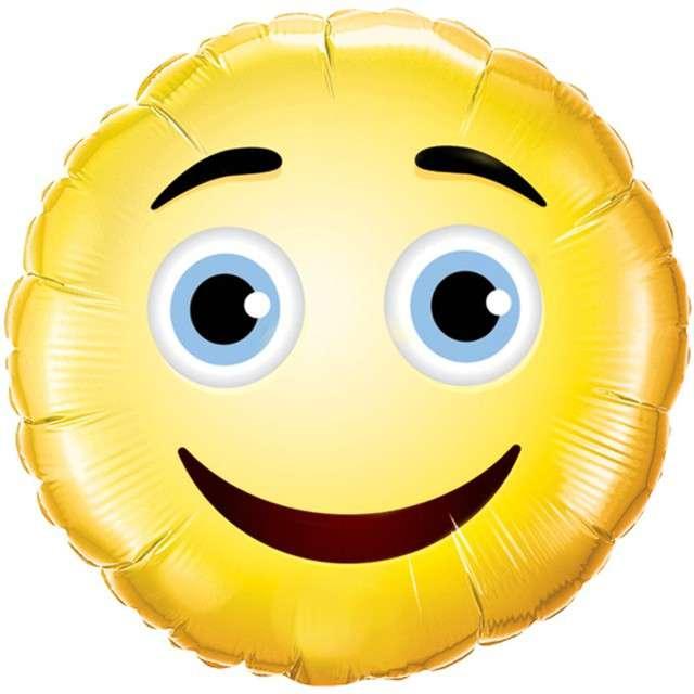 _xx_Balon foliowy 9 QL CIR Smiley Face żółty