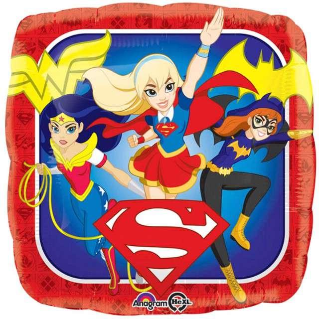 _xx_Balon foliowy Super Hero Girls kwadrat zapakowany