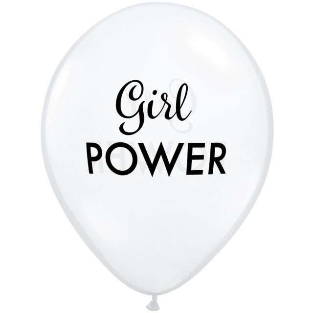 """Balony """"Girl power"""", transparentny, Qualatex, 11"""", 25 szt."""