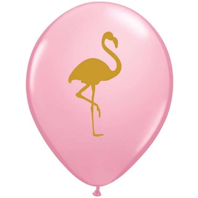 """Balony """"Złoty flaming"""", różowy, Qualatex, 11"""", 25 szt."""