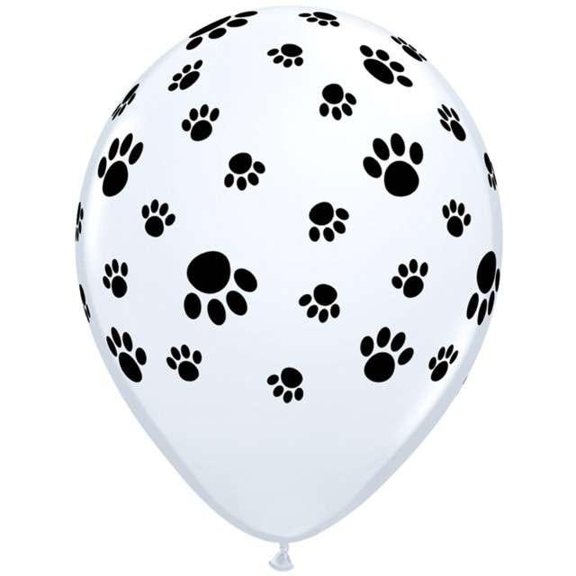 """Balony """"Psie łapy"""", biały, Qualatex, 11"""", 25 szt."""