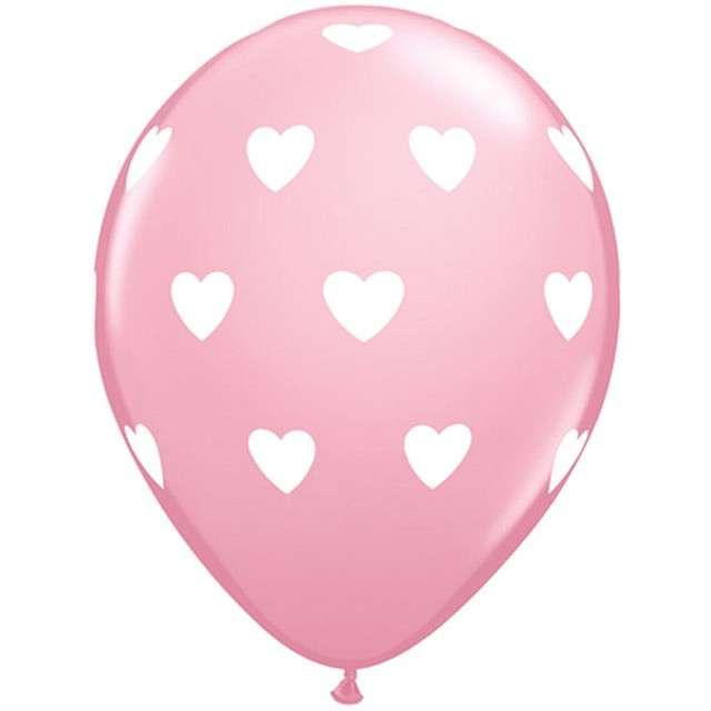 _xx_Balon QL 11 z nadr. Serca pastel różowy / 6 szt.