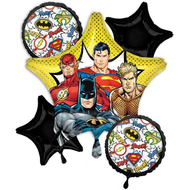_xx_Bukiet z balonów Justice League 5 sztuk