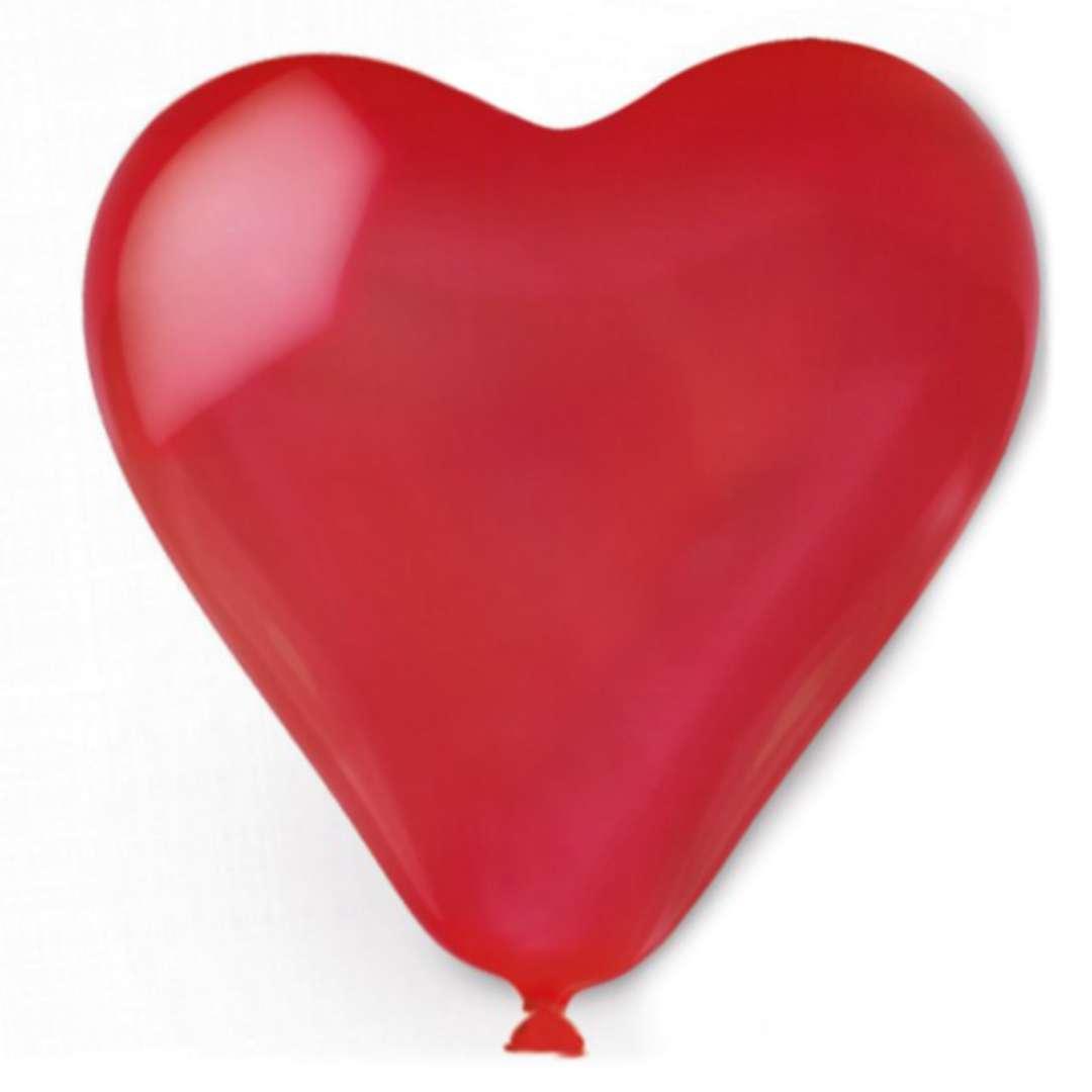 Balon Serce czerwone Amscan 16 10szt. HRT