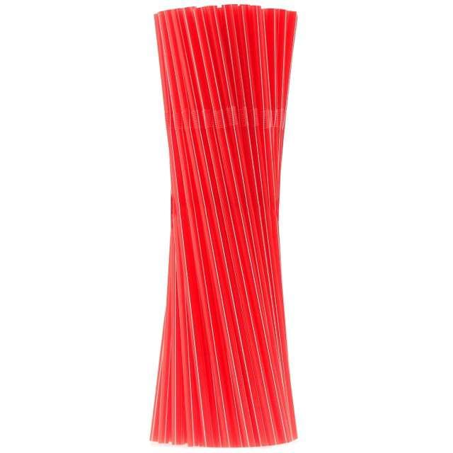 _xx_Rurki (słomki) łamane czerwone w  paski - 5x210 mm/ 100 szt. PB