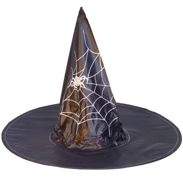 Kapelusz Czarownica z pajęczyną czarny Arpex