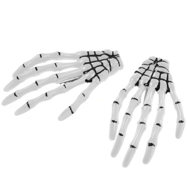 Spinki do włosów Ręce kościotrupa Arpex 2 szt