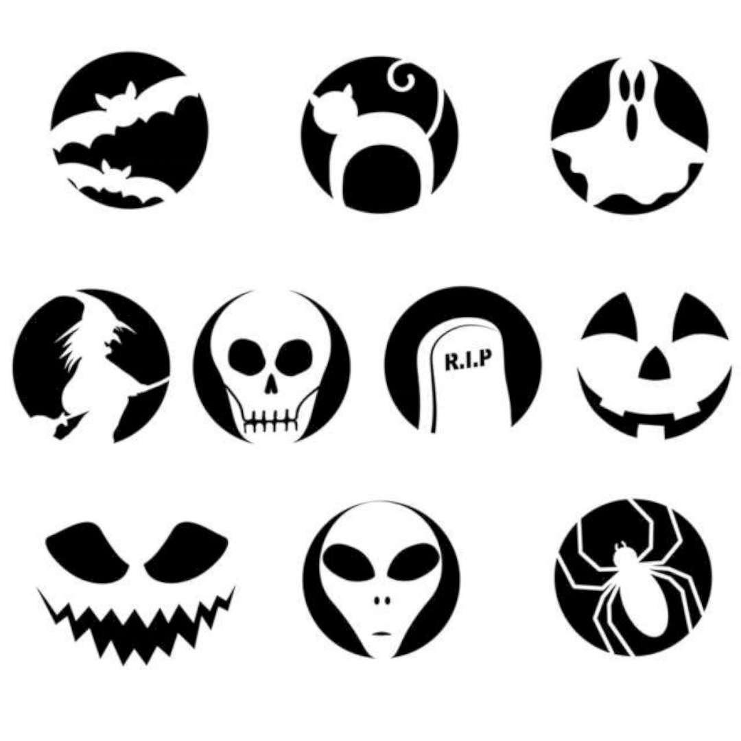 """Szablony do wykrawania """"Dynia Halloween"""", Arpex, 10 szt"""