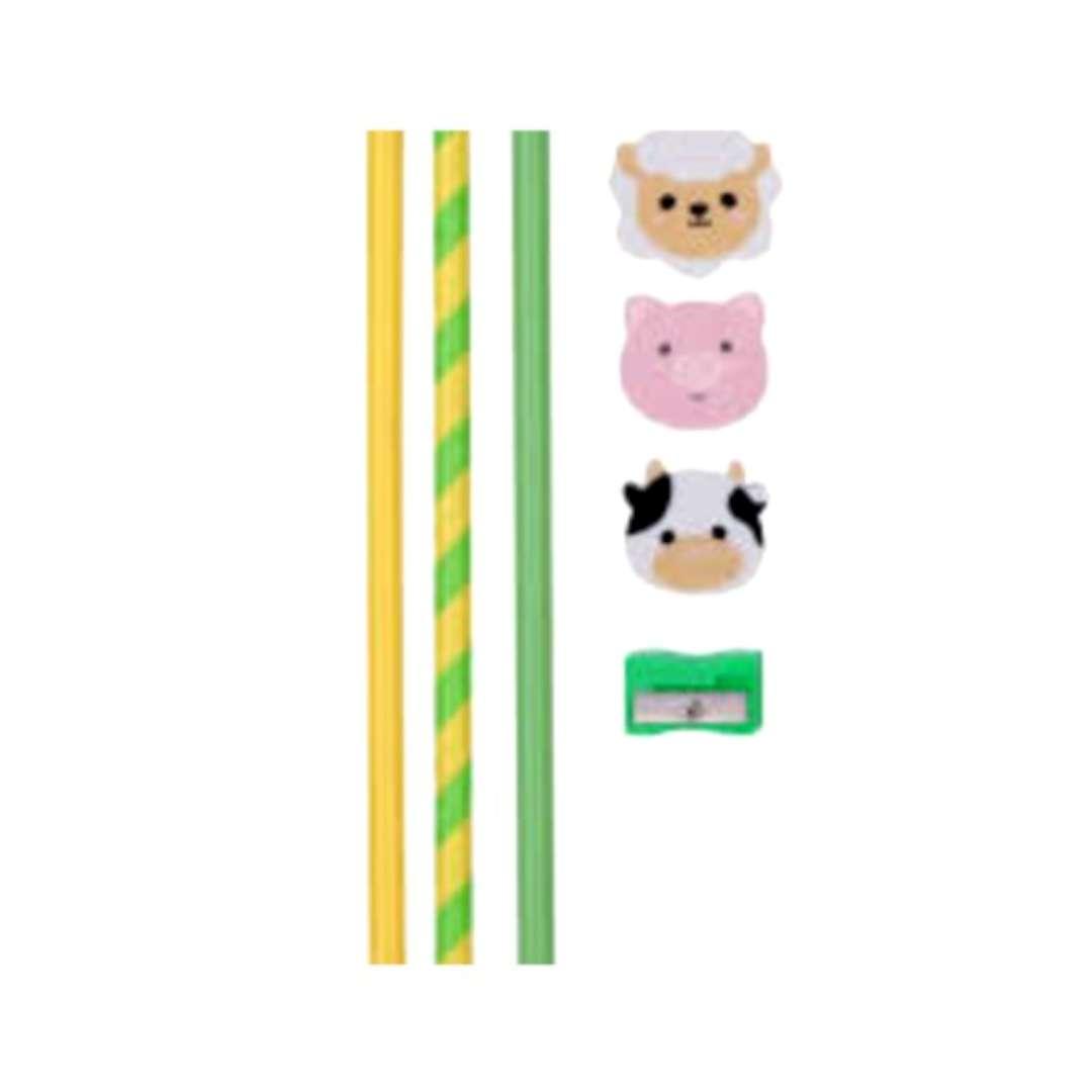 """Ołówki """"Domowe zwierzątka, z gumką, Puckator, 3 szt"""