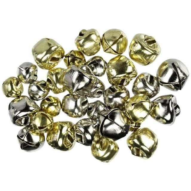 _xx_Dzwonki metalowe metal bells mix złoty srebrn