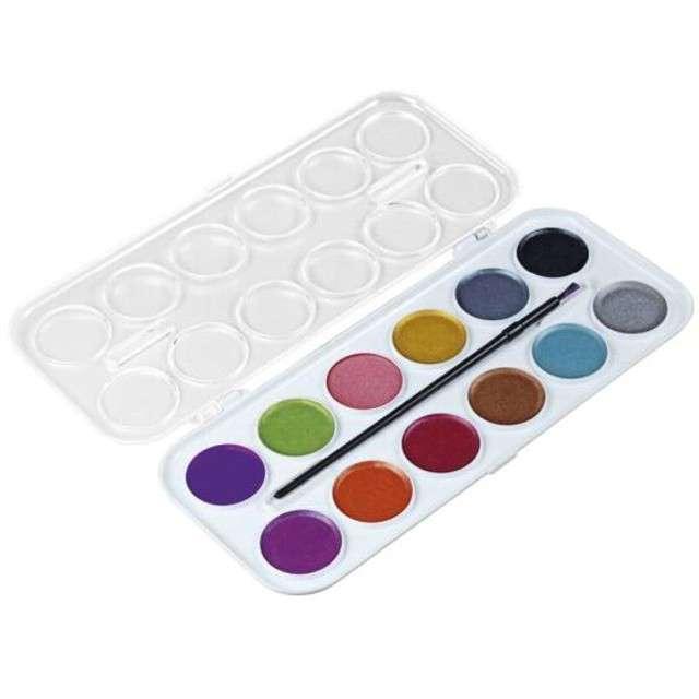_xx_Farby akwarelowe 12 kolorów 30mm metaliczne