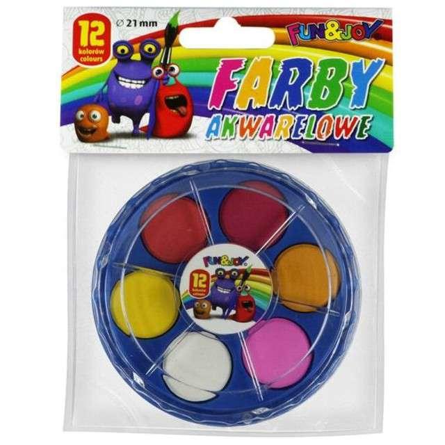 _xx_Farby akwarelowe Fun&Joy 12 kol. (FJ-12K21PUD