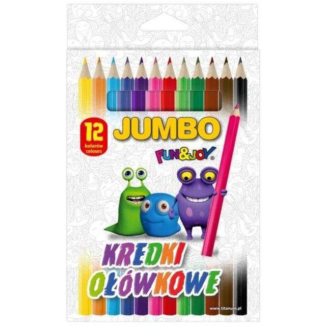Kredki ołówkowe Bezdrzewne mix Fun&Joy 12 szt