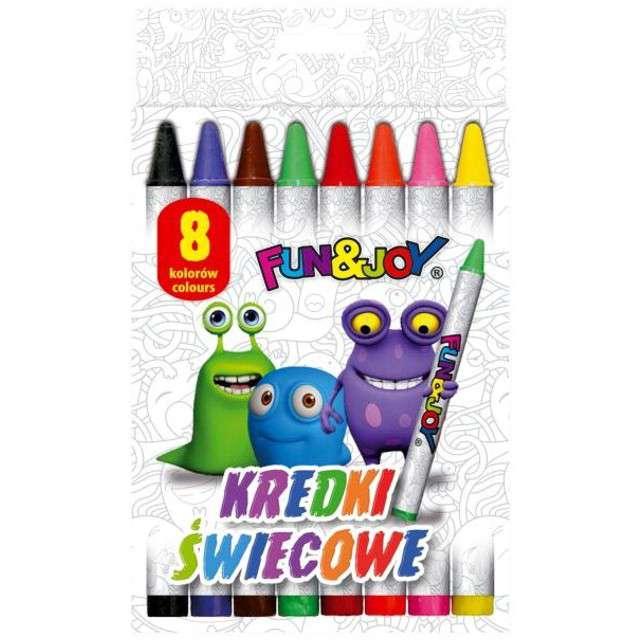 _xx_Kredki świecowe Fun&Joy 8 kol. (FJ2108D)