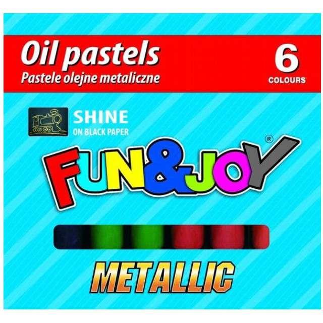 """Kredki """"Pastele olejne metaliczne"""", mix, Fun&Joy, 6 szt"""