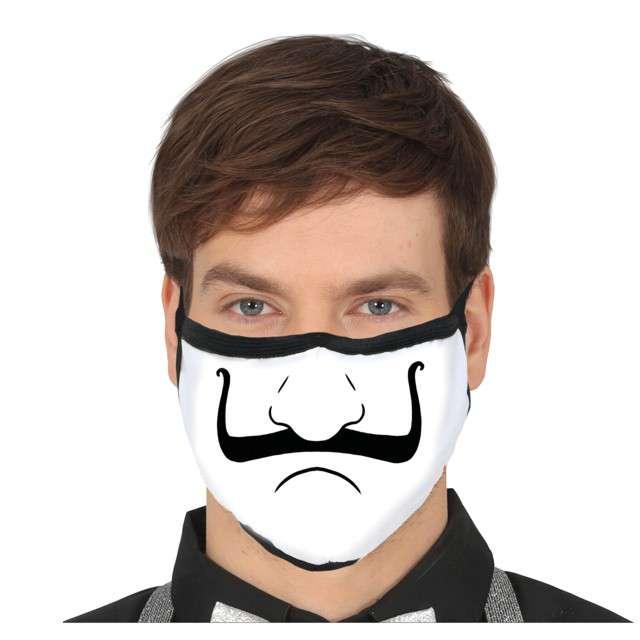 """Maseczka dla dorosłych """"Anonymous"""", biała, Guirca"""