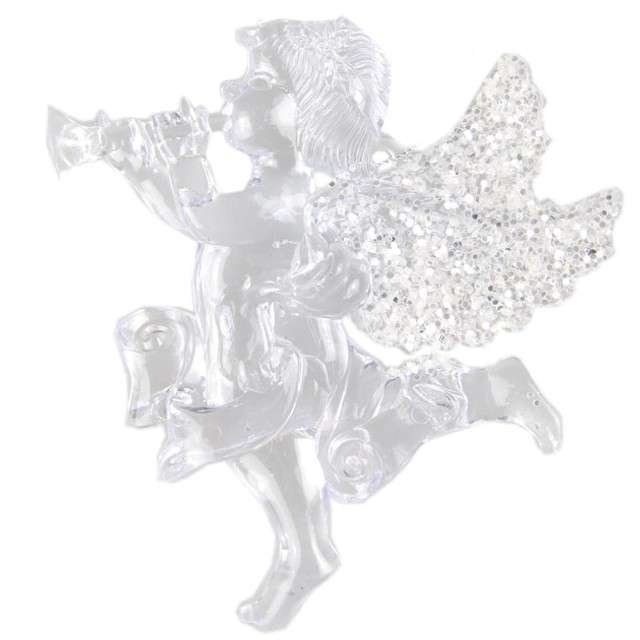 """Ozdoba choinkowa """"Świąteczny aniołek"""", akryl, Arpex"""