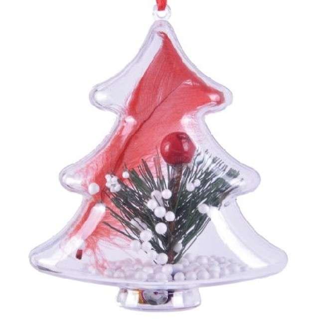 Bombka do dekorowania Choinka plastikowa Arpex 10 cm