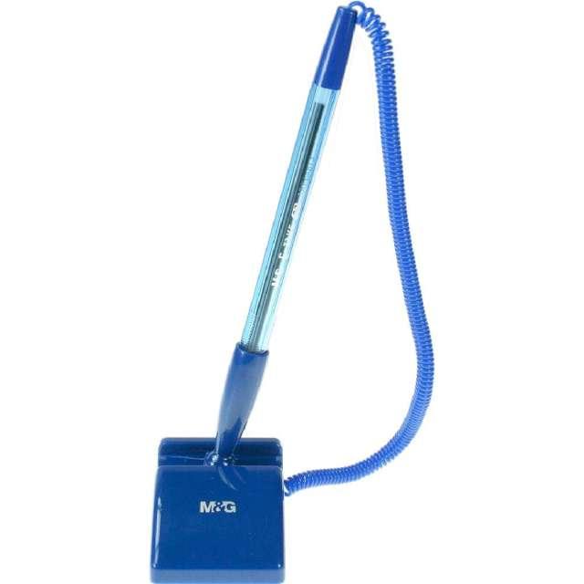 Długopis z przylepcem Prostokątna podstawka niebieski Titanum 07 mm