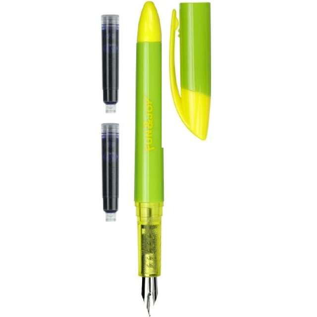 """Pióro wieczne """"Na naboje, niebieskie"""", zielono-żółte, Fun&Joy"""