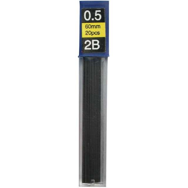 """Wkłady do ołówków """"Grafity"""", Titanum, 2B, 0,5 x 60 mm, 12 szt"""