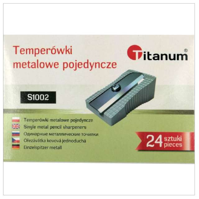 Temperówka Metalowa pojedyńcza srebrna Titanum