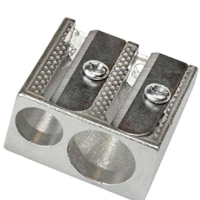 "Temperówka ""Metalowa podwójna"", srebrna, Titanum"