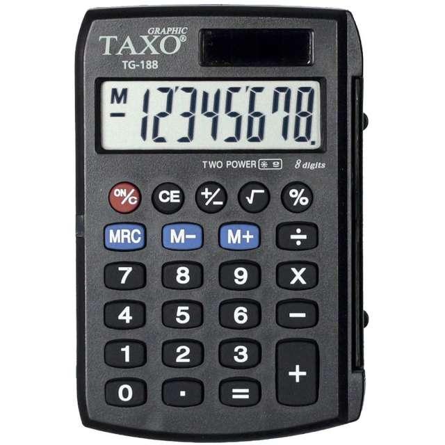 """Kalkulator kieszonkowy """"Classic"""", czarny, Titanum"""