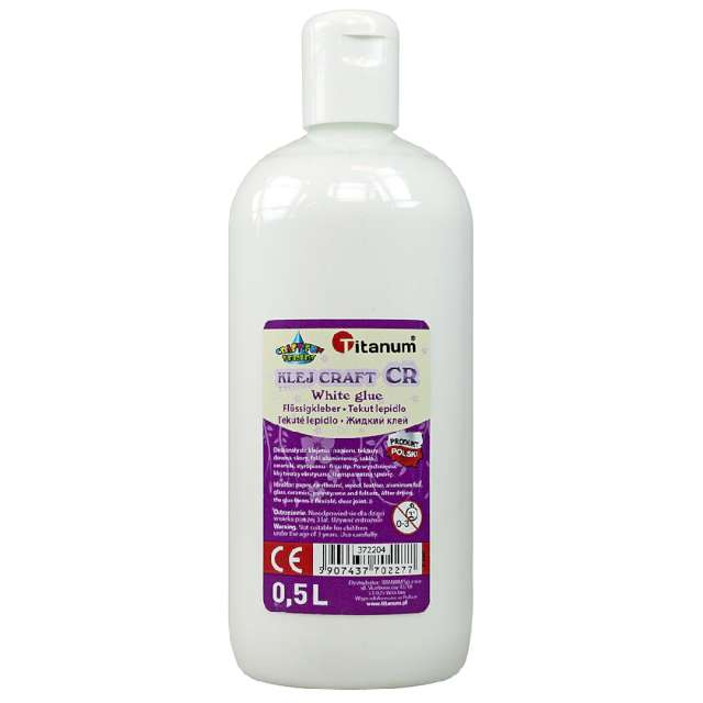 """Klej uniwersalny """"Craft"""", biały, Titanum, 500 ml"""
