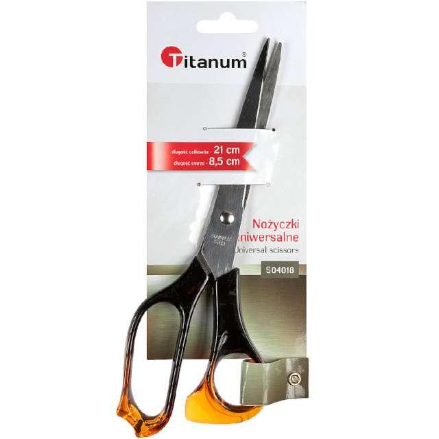 Nożyczki Ergonomiczne brązowe Titanum 21 cm