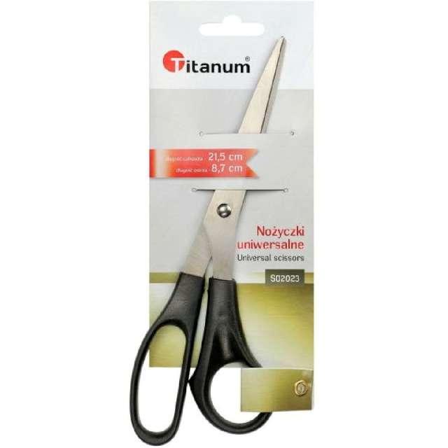 Nożyczki Uniwersalne czarne Titanum 215 cm
