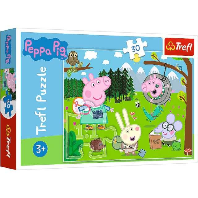 """Puzzle """"Wycieczka świnki Peppa"""", Trefl, 30 elementów"""