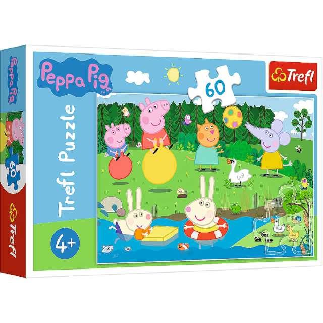 """Puzzle """"Wakacje świnki Peppa"""", Trefl, 60 elementów"""