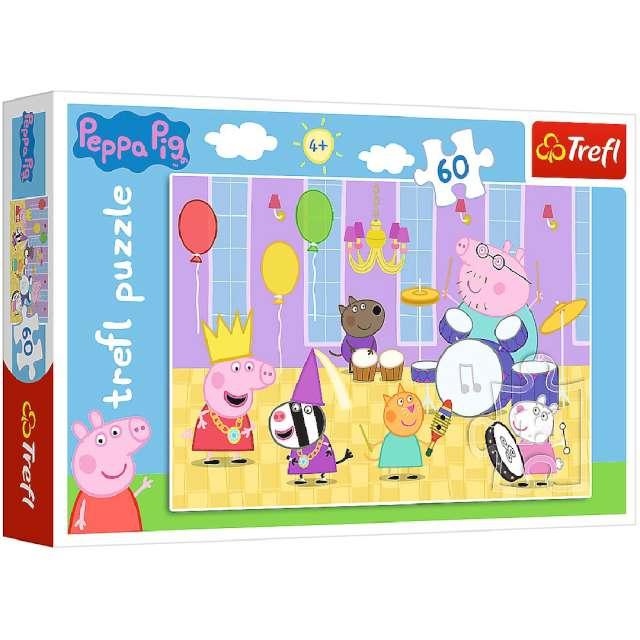 """Puzzle """"Urodziny świnki Peppa"""", Trefl, 60 elementów"""