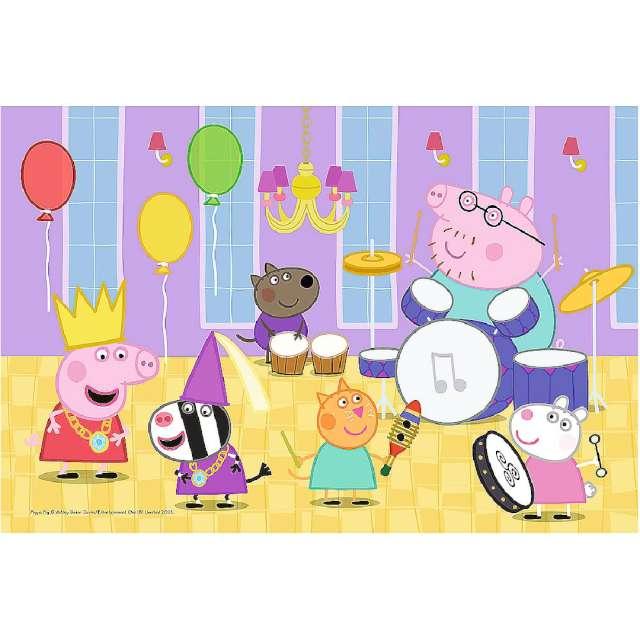 Puzzle Urodziny świnki Peppa Trefl 60 elementów