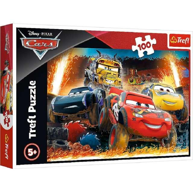 Puzzle Auta zawody Trefl 100 elementów