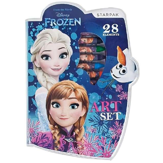 Zestaw plastyczny Frozen Kraina Lodu 28 element. Starpak