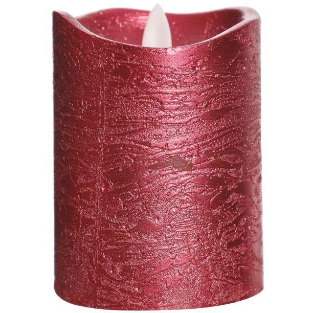Świeca LED Deluxe czerwona Guirca 10 cm