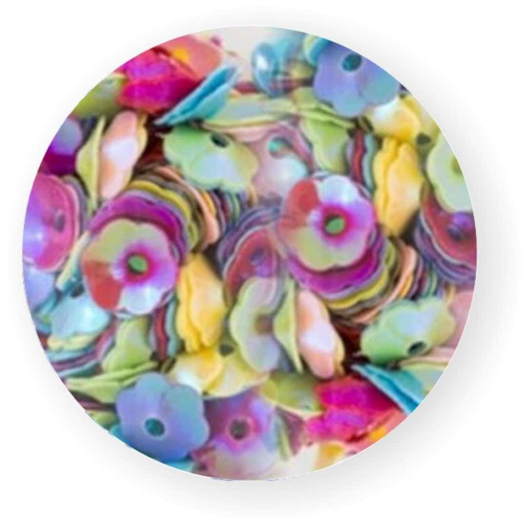 "Cekiny ""Kwiatki Pastel Box"", mix, 5 mm, 12 g, Czakos"