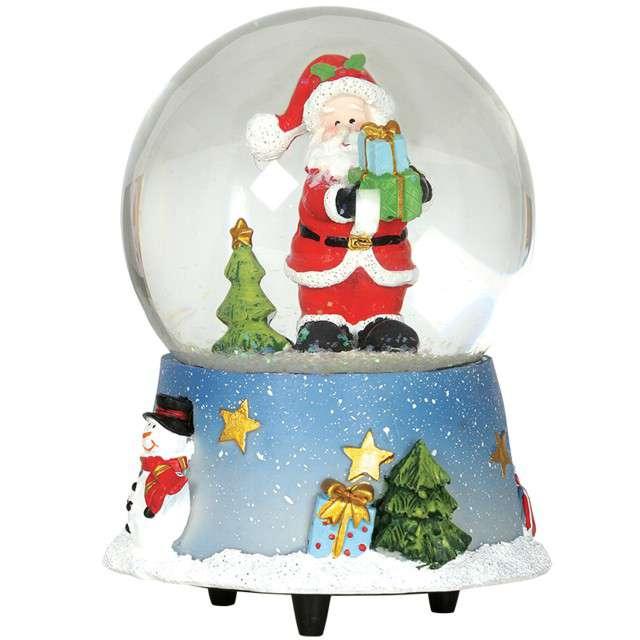 Pozytywka Św. Mikołaj w szklanej kuli Guirca 15 cm