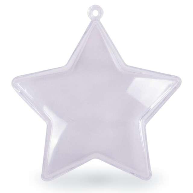 """Bombka do dekorowania """"Gwiazdka"""", plastikowa, Arpex, 8 cm"""