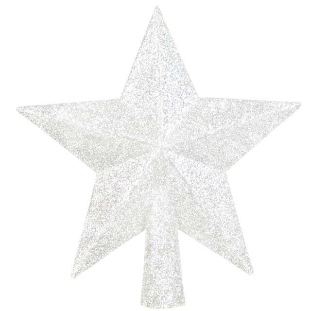 """Czubek choinkowy """"Perłowa gwiazda"""", Arpex, 14 cm"""