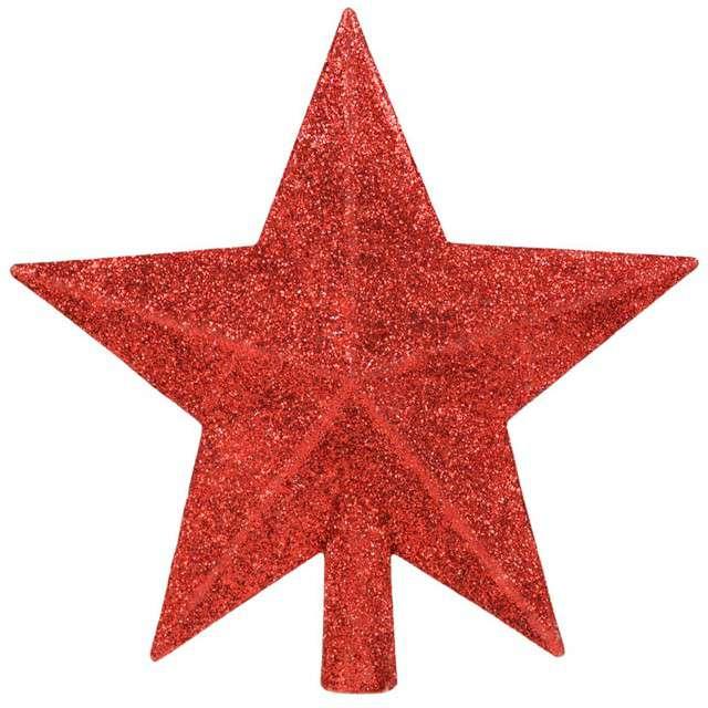 """Czubek choinkowy """"Czerwona gwiazda"""", Arpex, 14 cm"""